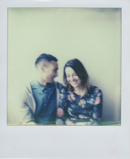 Polaroid of Derbyshire Wedding Photographers Kim and Chantelle | Photo credit: Emma Case Photography