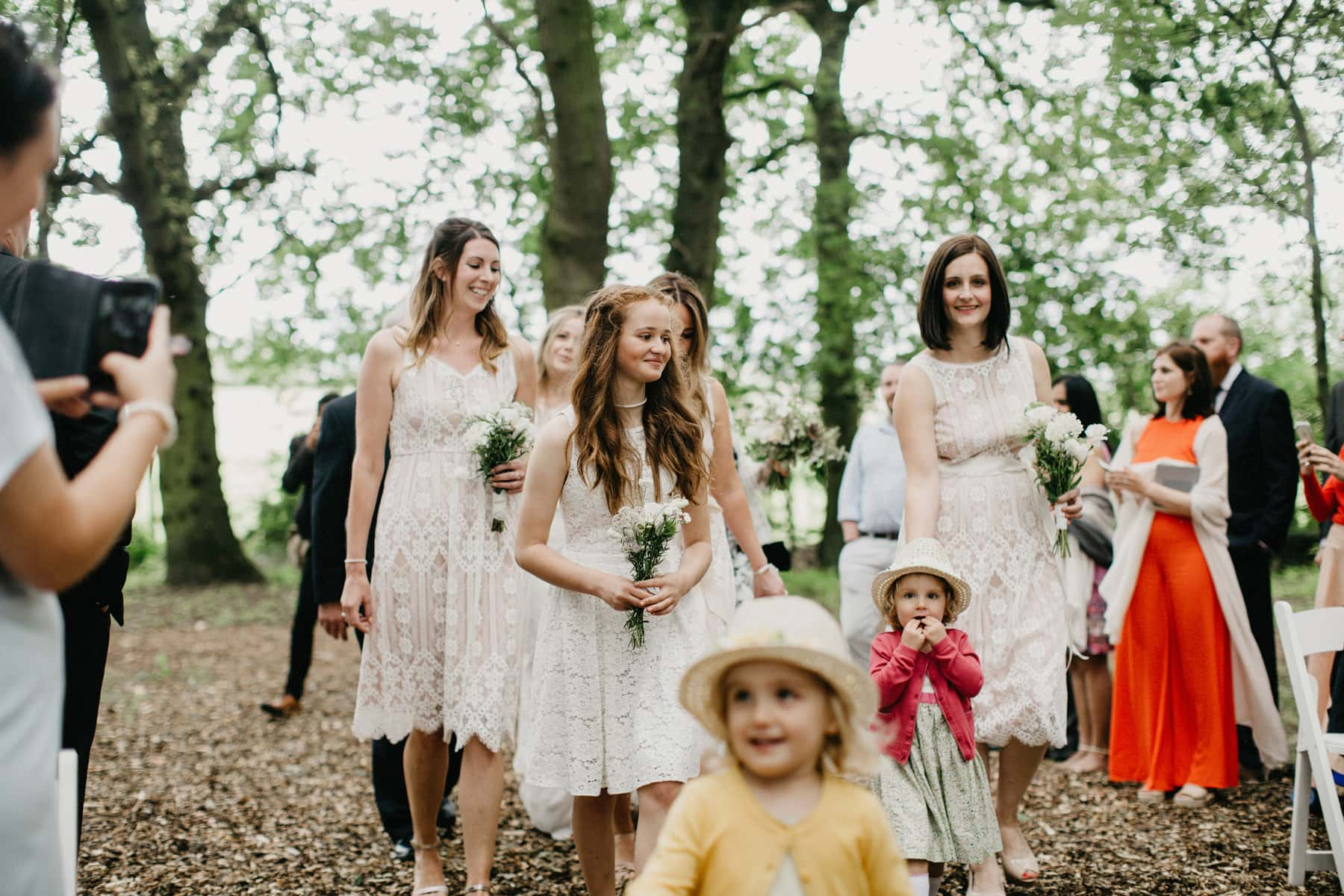 relaxed outdoor wedding in a field