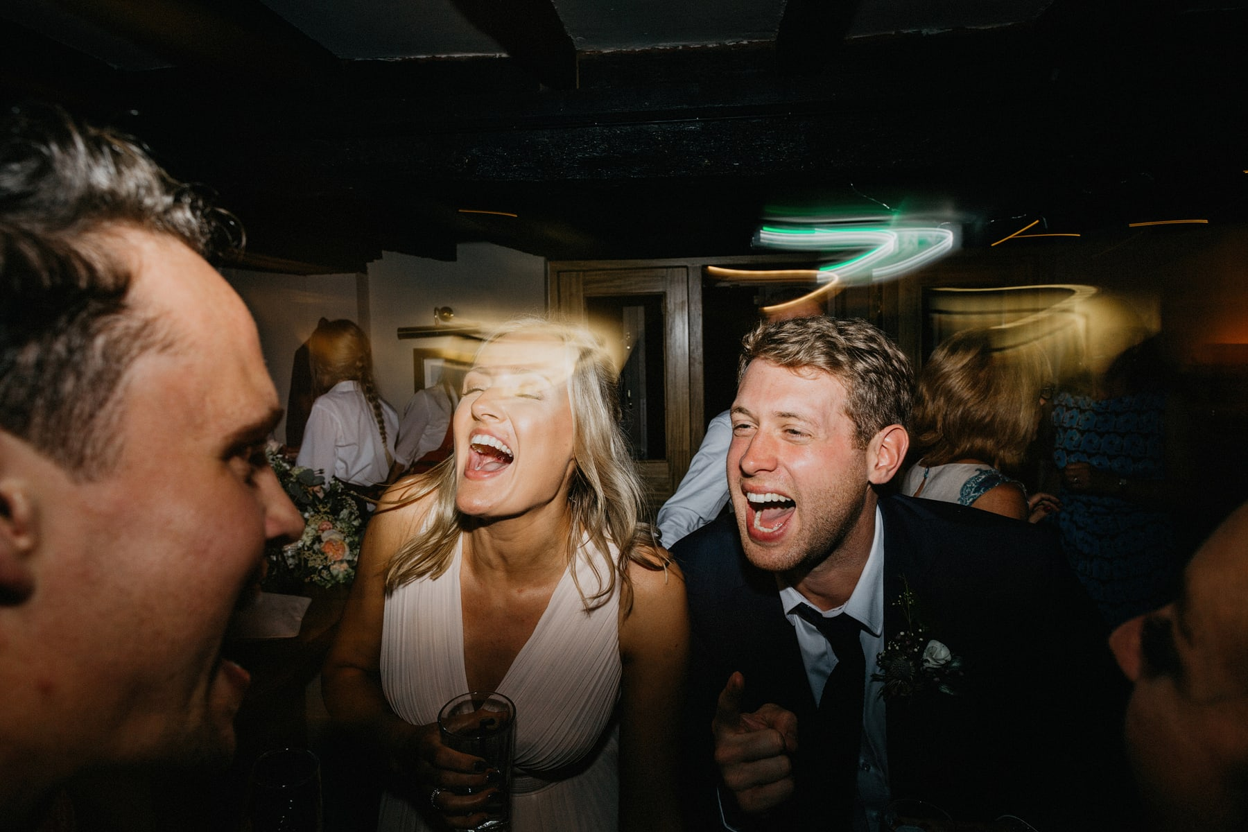 stylish pub wedding