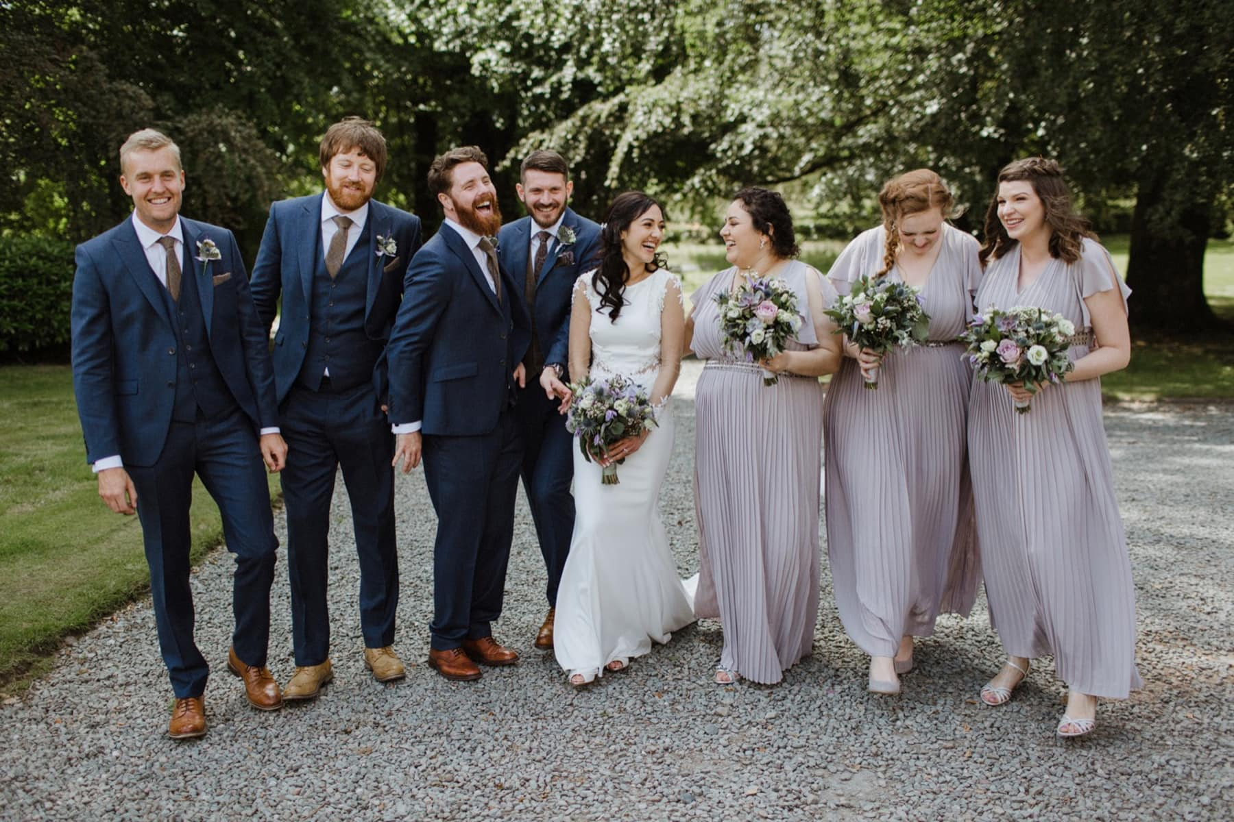 relaxed lake district wedding photography