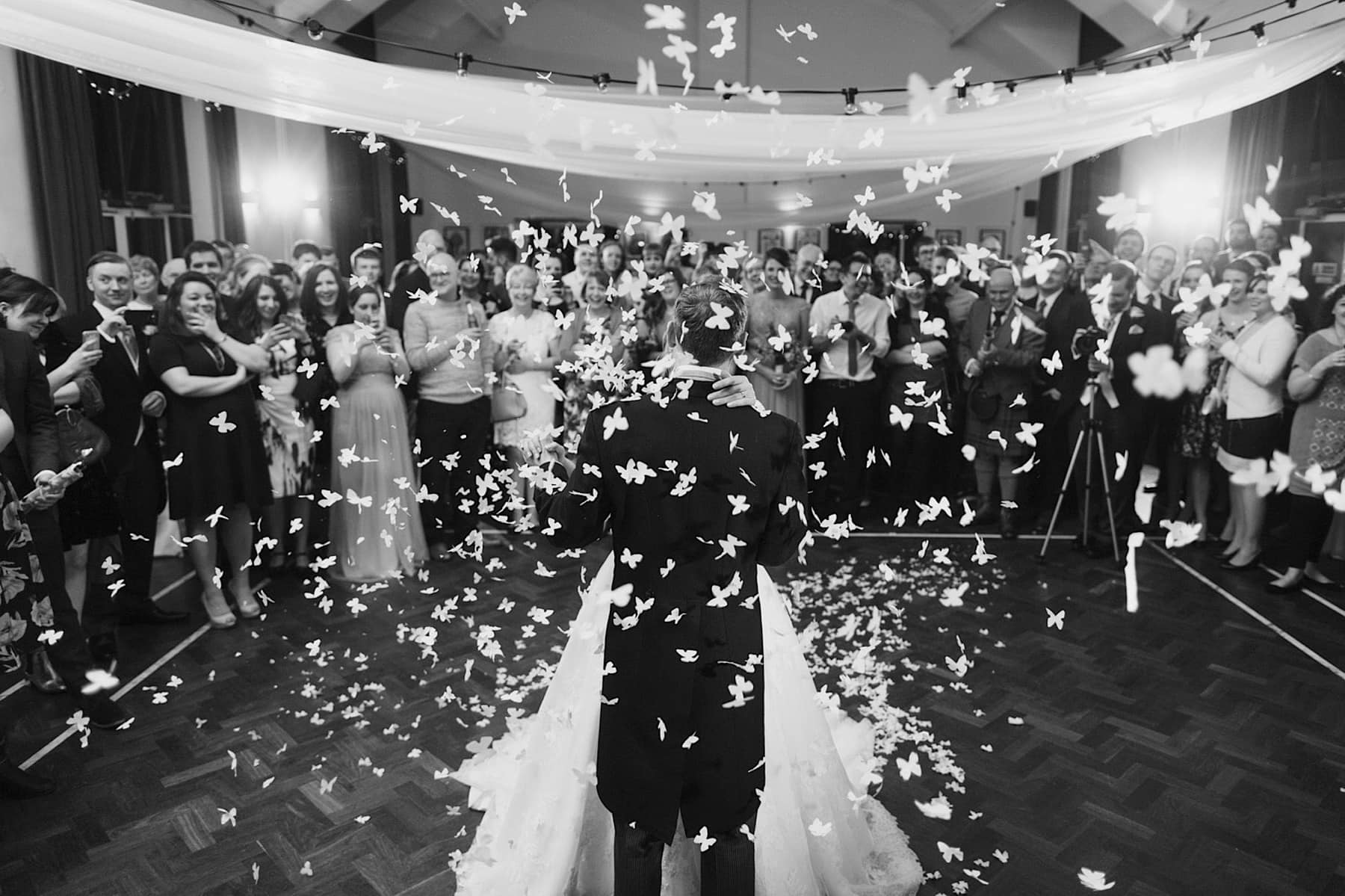 beautiful wedding moment on dancefloor
