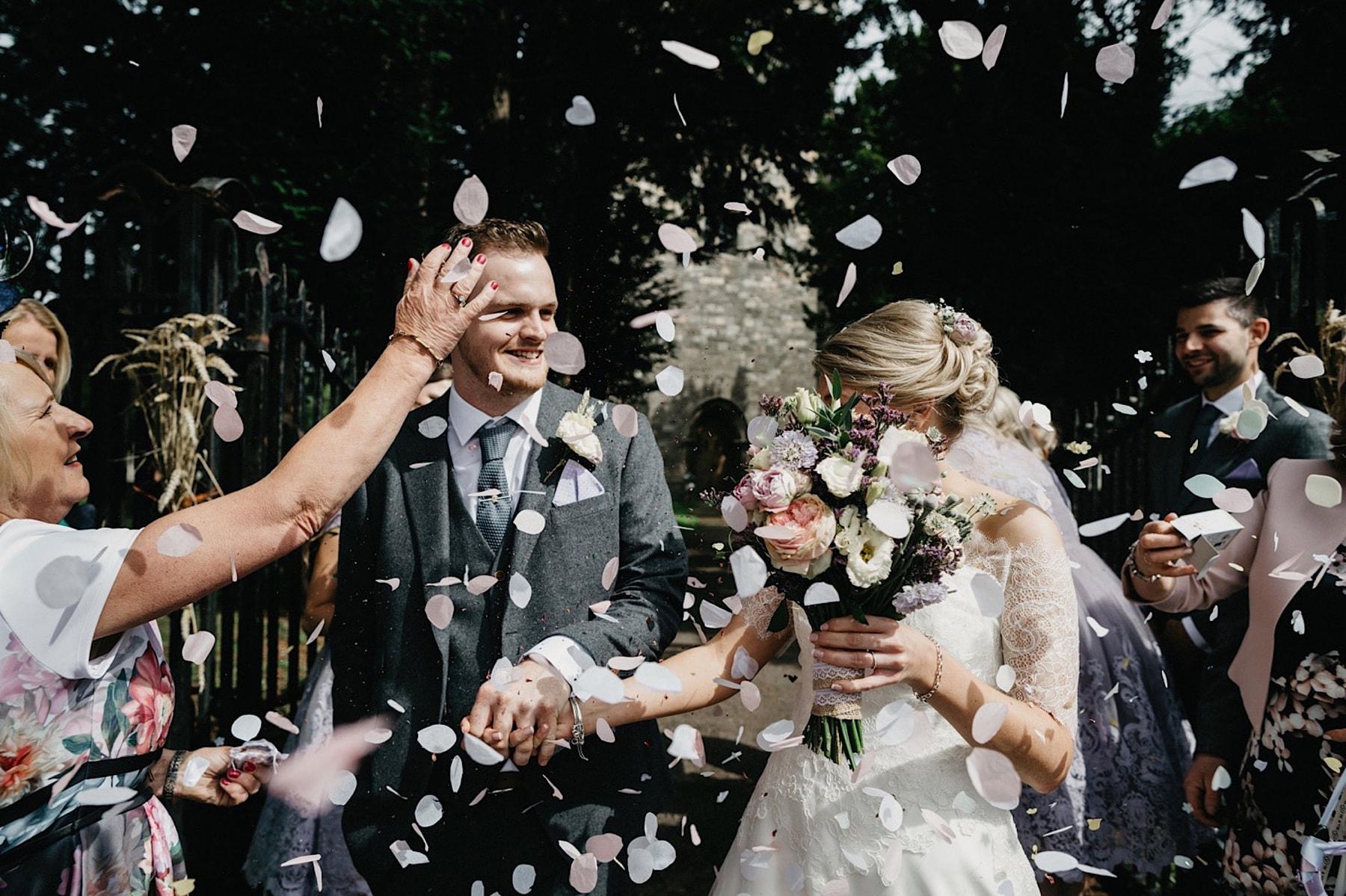 wedding confetti moment nottinghamshire