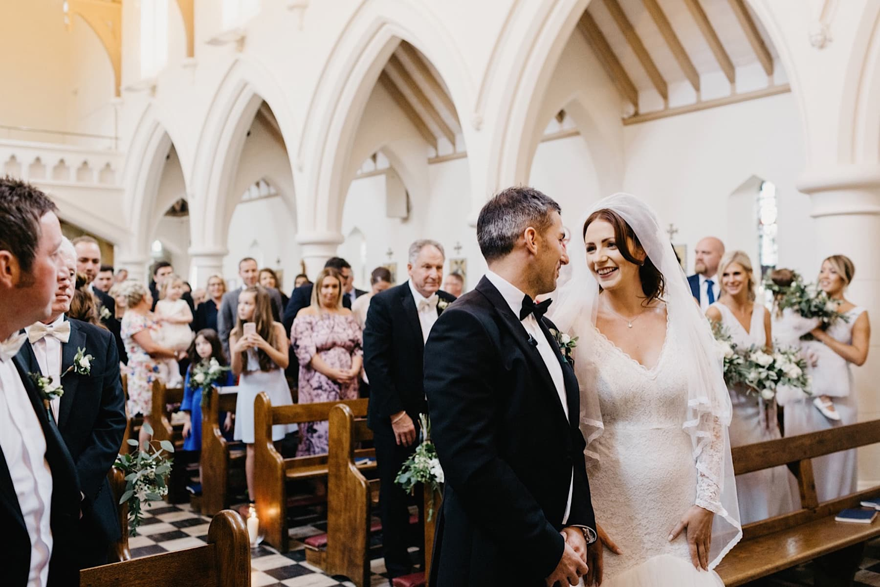 beautiful bride groom catholic church wedding nottingham